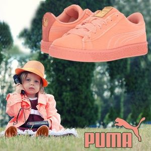 Puma Kids Basket Classic Velour Sneaker Girls Shoe